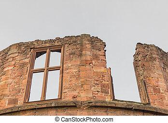 castillo, torre, ruina, heidelberg