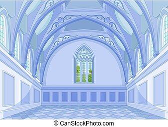 castillo, vestíbulo