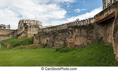 castillo, viejo, zanzibar