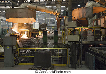 Casting in Steel Mill