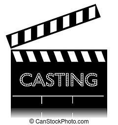 Poster casting film clapperboard