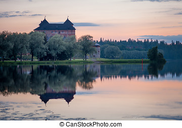 Castle After the Sunset - Hämeenlinna Castle nightscene with...