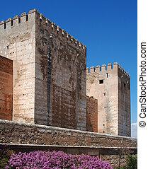 Castle, Alhambra Palace, Granada.