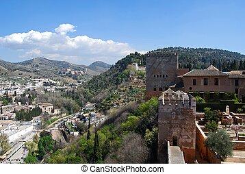 Castle and Albaicin, Granada.
