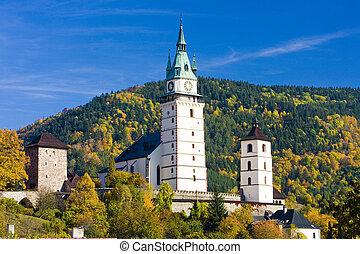 Kremnice, Slovakia - castle and church of St. Catherine, ...