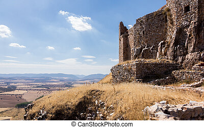 Castle and Convent of Calatrava la Nueva in Spain - The...