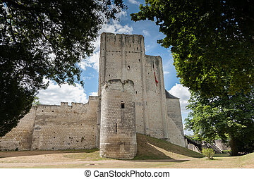 Castle and donjon of the French city of loches, france, Loire valley