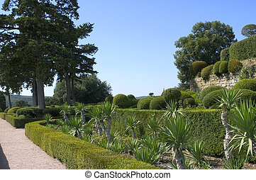 castle and gardens of Marqueyssac, the gardens have the...