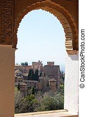 Castle archway, Granada.