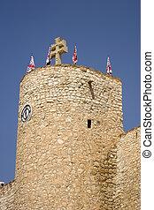 Castle at Caravaca de la cruz, spain.