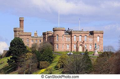 Castle at Inverness in Scotland