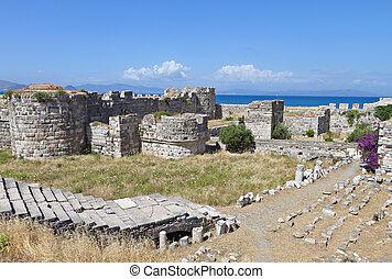 Castle at Kos island in Greece - The Saint John Knights...