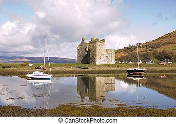 Castle at Lochranza in Scotland