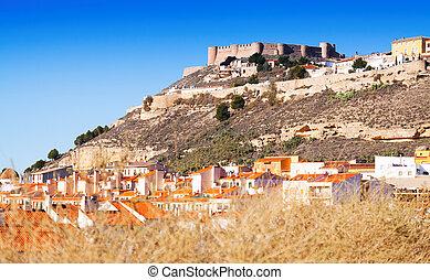 Castle at mount. Chinchilla de Monte-Aragon, Spain