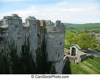 Castle battlements.