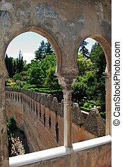 Castle battlements, Granada.