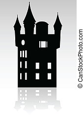 castle black silhouette