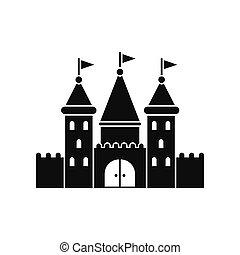 Castle black simple icon