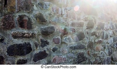 Castle brick hd video footage. Old medieval strengthen wall ...