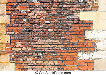 Castle brick wall