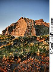 Castle Butte in Big Muddy Valley in Southern Saskatchewan