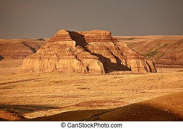 Castle Butte in Big Muddy Valley of Saskatchewan