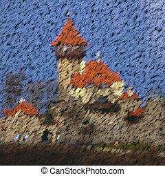 Castle chalk image generated background