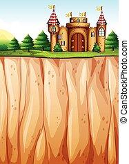 Castle - Beautiful castle on the cliff