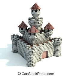 castle 3d illustration
