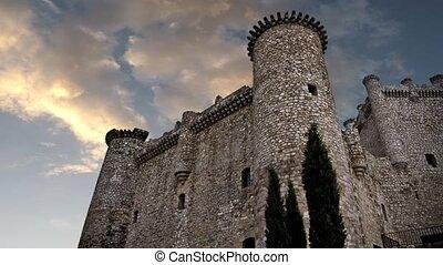 Castle, clouds timelapse