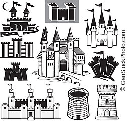 Castle Collection - Clip art collection of castle icons and...