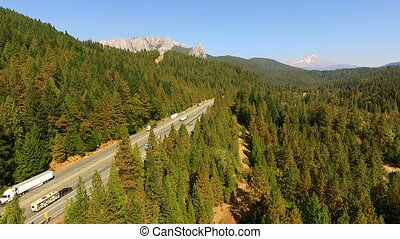 Castle Crags State Park California Mount Shasta Trinity...