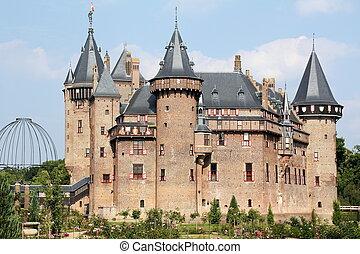 Castle de Haar from 20th century in Haarzuilen. THE...