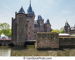 Castle De Haar, The Netherlands surrounded by a moat