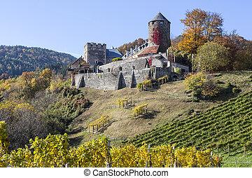 Castle Deutschlandsberg on western Styria vine route in Austria