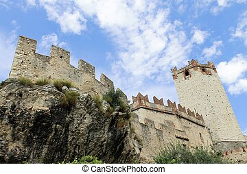 Castle di Malcesine on Garda lake in Italy