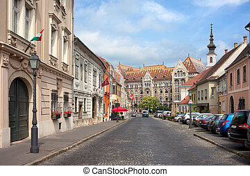 Castle District in Budapest - Fortuna street in Castle...