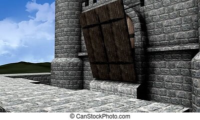 Castle drawbridge