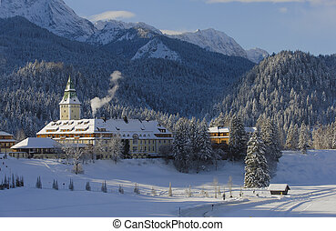 castle elmau in bavaria, germany