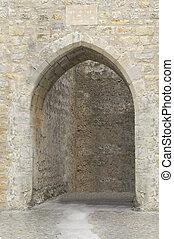 Castle entrance in Portugal.