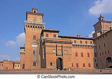 Castle Estense of Ferrara - castle of Ferrara, famous...