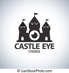 Castle eye symbol icon