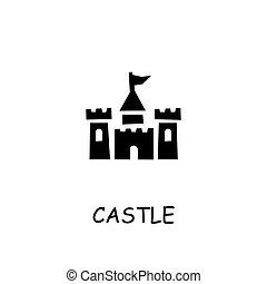 Castle flat vector icon