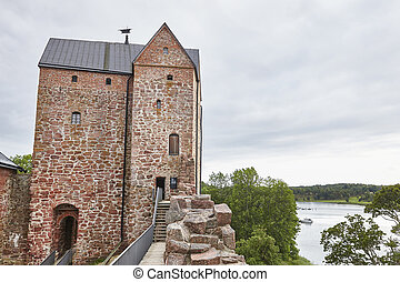 Castle fortification in Aland islands. Sund. Kastelholms...