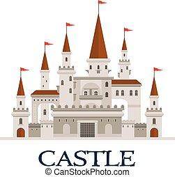 Castle fortress symbol for architecture design - Gothic...