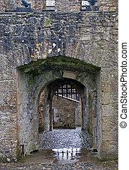 Castle gate with portcullis
