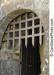 Castle gated entrance - Castle wood gated entry in the...