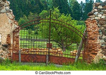 Castle gates closed