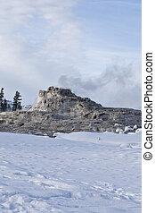 Castle Geyser, Winter, Yellowstone NP, WY