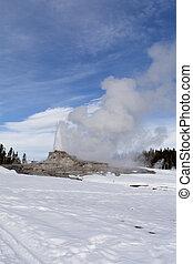 Castle Geyser, Winter, Yellowstone National Park, WY